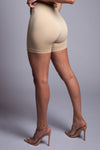 BASIC BIKER SHORTS - BEIGE