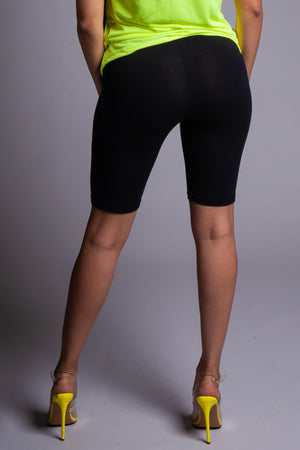 BASIC LONG BIKER SHORTS - BLK