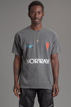 GUYS DARK GREY TEAM NORWAY TEE
