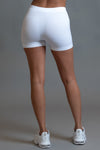 WHITE N PINK MINI MEDI BIKER SHORTS