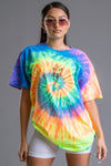 TIE DYE N BLK BLESS UP TEE