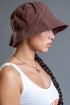 CHOCOLATE BUCKET HAT