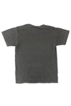 KIDS DARK GREY N ORANGE SPRAY TEE