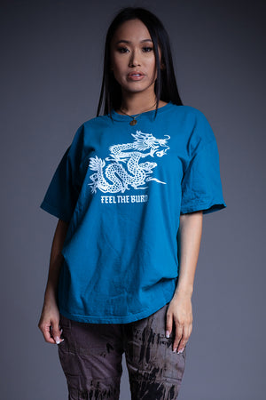 BLUE N WHITE FTB TEE