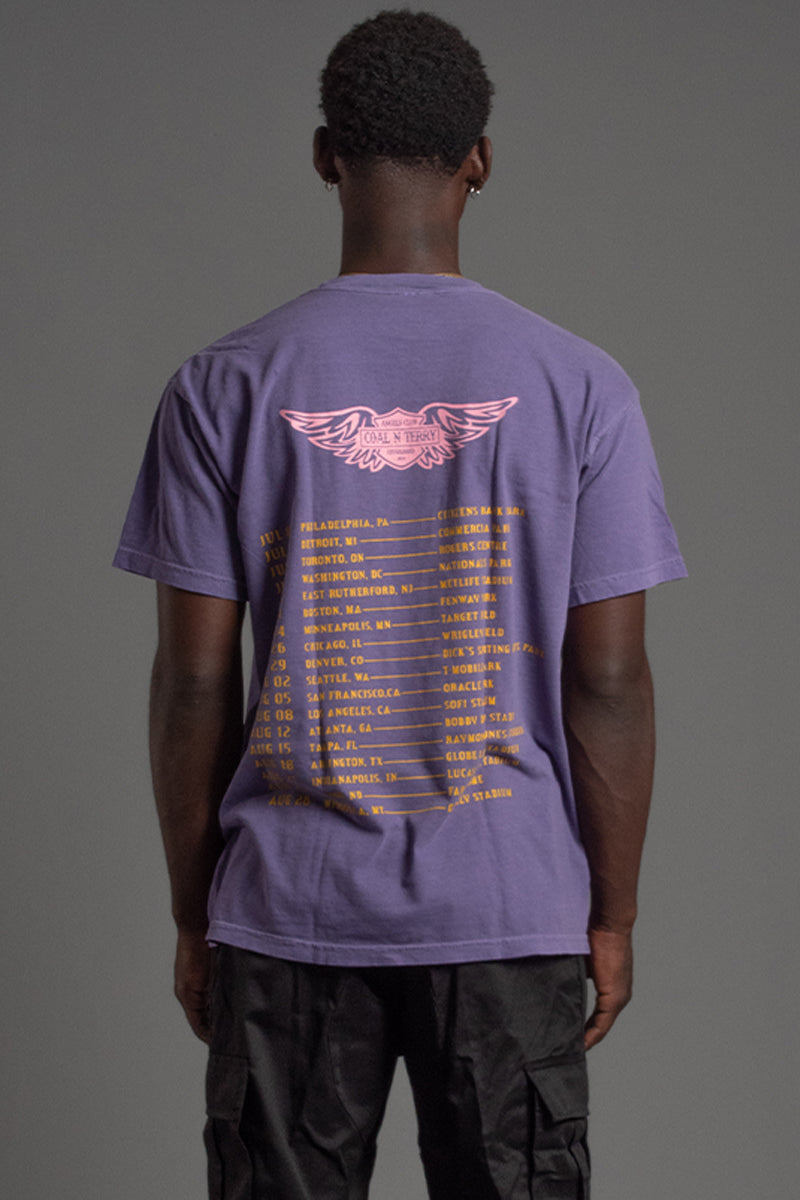 GUYS PURPLE N GOLD TOUR LIFE TEE