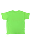NEON GREEN N ORANGE SPRAY TEE