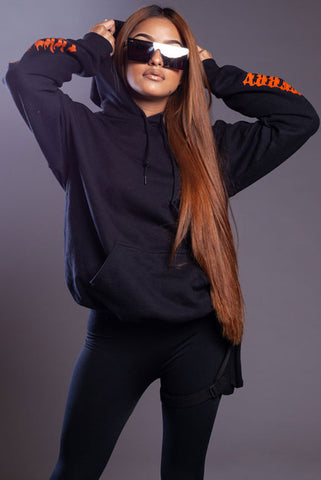 Orange N Black Trap Hoodie