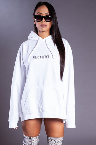 CHOCOLATE N WHITE MINI MEDI HOODIE