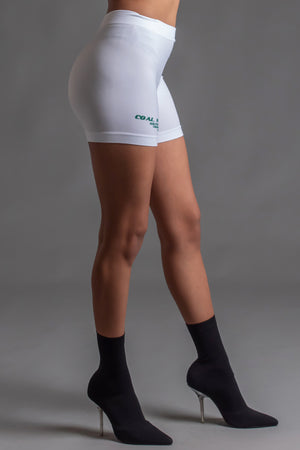 BURBS BIKER SHORTS - WHITE N GREEN