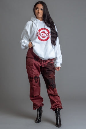 WHITE N RED KILLING IT HOODIE