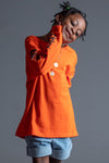 KIDS ORANGE N BLK TRAP TEE