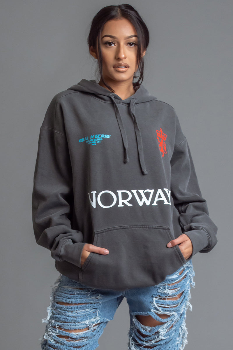 DARK GREY TEAM NORWAY HOODIE