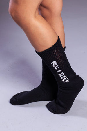 MINI MEDI SOCKS - BLK N WHITE