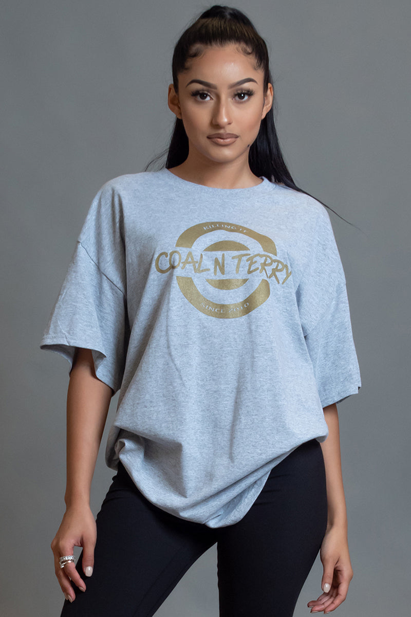 SPORT GREY N GOLD KILLING IT TEE
