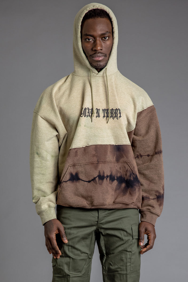 GUYS ACID N RUSTED MINI MEDI PATCHWORK HOODIE