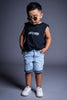KIDS BLK N WHITE MINI MEDI TANK