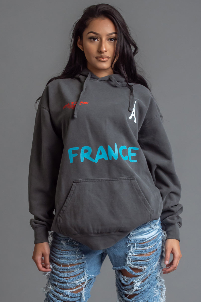 DARK GREY TEAM FRANCE HOODIE