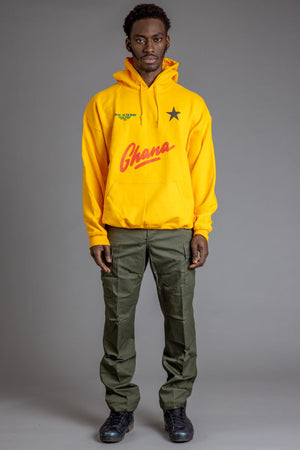 GUYS YELLOW TEAM GHANA HOODIE