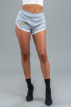 LIGHT GREY N GOLD ANGELS CLUB VARSITY SHORTS
