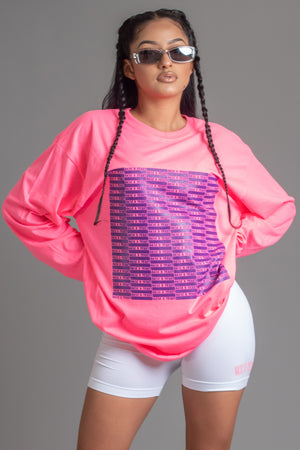 PINK N PURPLE FULL CHECKER LONG SLEEVE TEE