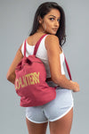 RED N GOLD SPRAY BOOK BAG