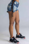 NEON GREEN N BLACK CROPPED BURBS CREW