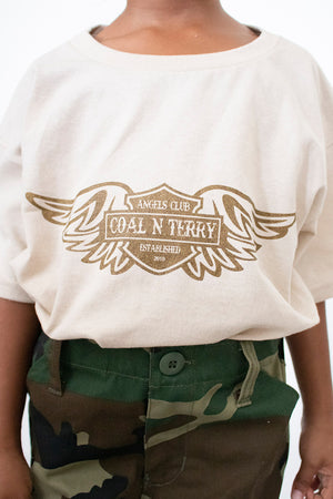 KIDS SAND N CHOCOLATE ANGELS CLUB TEE