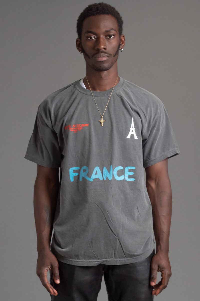GUYS DARK GREY TEAM FRANCE TEE