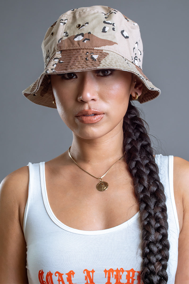 TRI COLOR CAMO BUCKET HAT