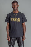 GUYS BLK N GOLD SPRAY TEE