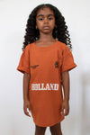 KIDS BURNT ORANGE TEAM HOLLAND TEE