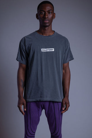 DARK GREY N WHITE BURBS TEE
