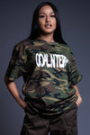 CAMO N WHITE SPRAY CNT TEE
