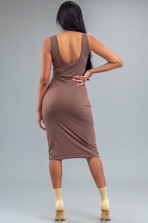 MOCHA N GOLD ANGELS CLUB DRESS