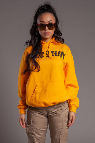 Orange N Black Logo Hoodie