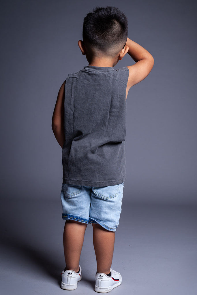 DARK GREY N WHITE MINI MEDI TANK