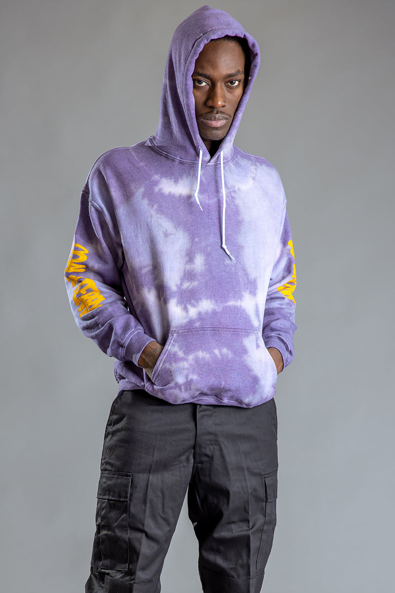 GUYS ICE PURPLE DYED N YELLOW TRAP HOODIE