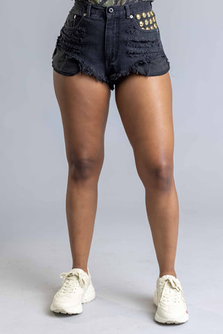 DARK GREY N BLK MINI MEDI TEE