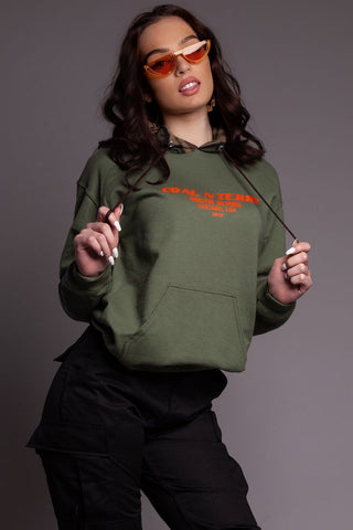 Green N Orange Trap Cropped Crewneck