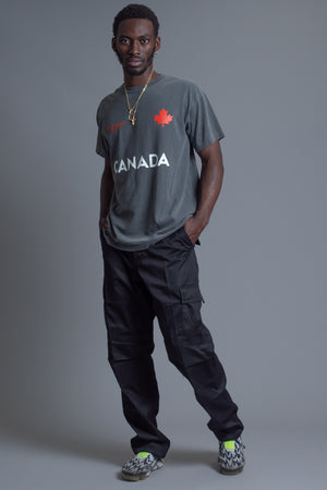 GUYS GREY TEAM CANADA TEE