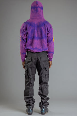 GUYS GRAPE DYED N YELLOW TRAP HOODIE