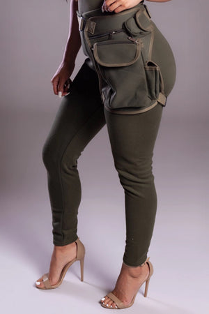 MINI MEDI LEG BAG - KHAKI