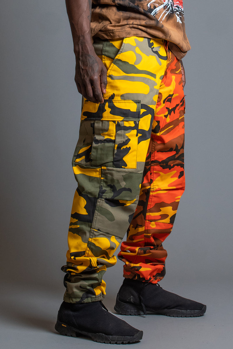 GUYS CNT COMBAT PANT - TWO TONE CAMO ORANGE N YELLOW