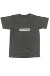 DARK GREY N WHITE BAR TEE