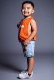 KIDS ORANGE N WHITE MINI MEDI TANK