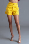VTG YELLOW HIGHWAISTED DENIM SHORTS