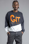 GUYS BLK N ORANGE CNT ACTION PATCHWORK CREW