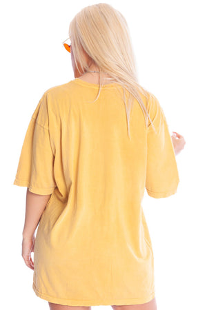 YELLOW N BLK MINI MEDI TEE