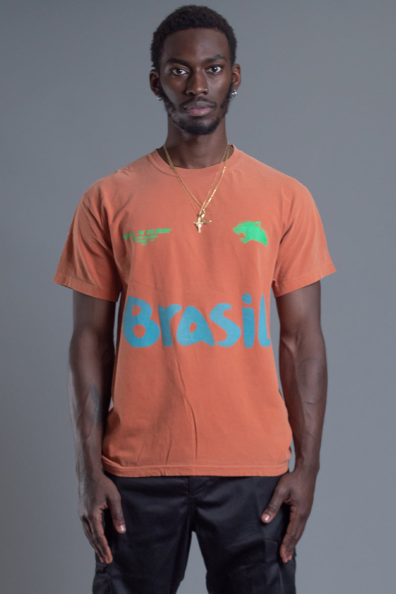 GUYS BURNT ORANGE TEAM BRASIL TEE