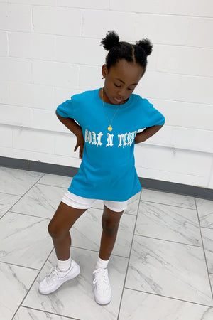 KIDS TROPICAL BLUE MEDI WING TEE